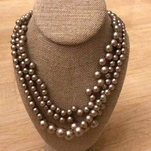 J.Crew multi-strand pearl necklace